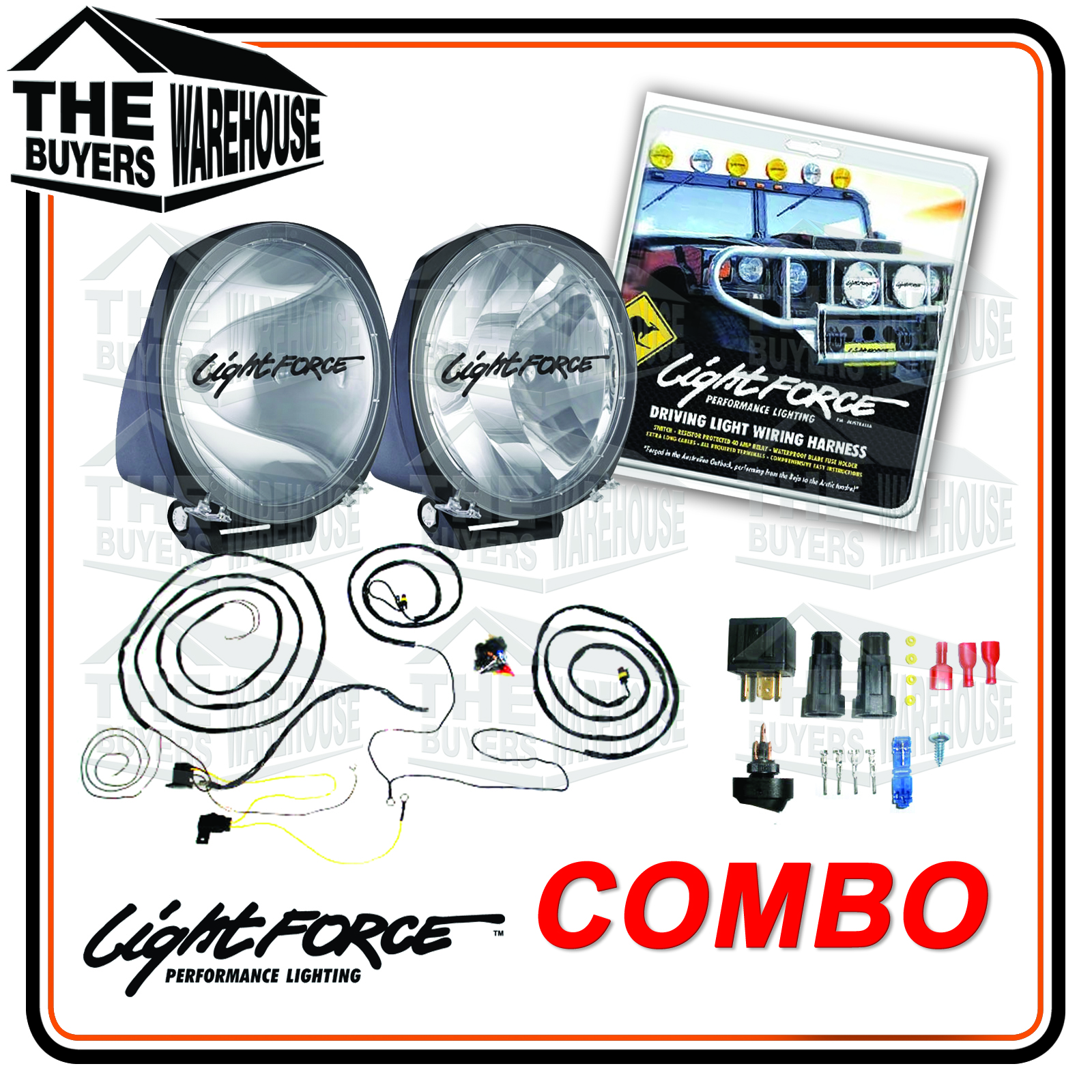 wiring kit 210h drive light combo?w=265 how to wire up driving lights on your 4wd suv the buyers warehouse lightforce wiring harness at cos-gaming.co
